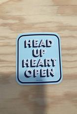 Free Period Press Sticker- Head Up Heart Open