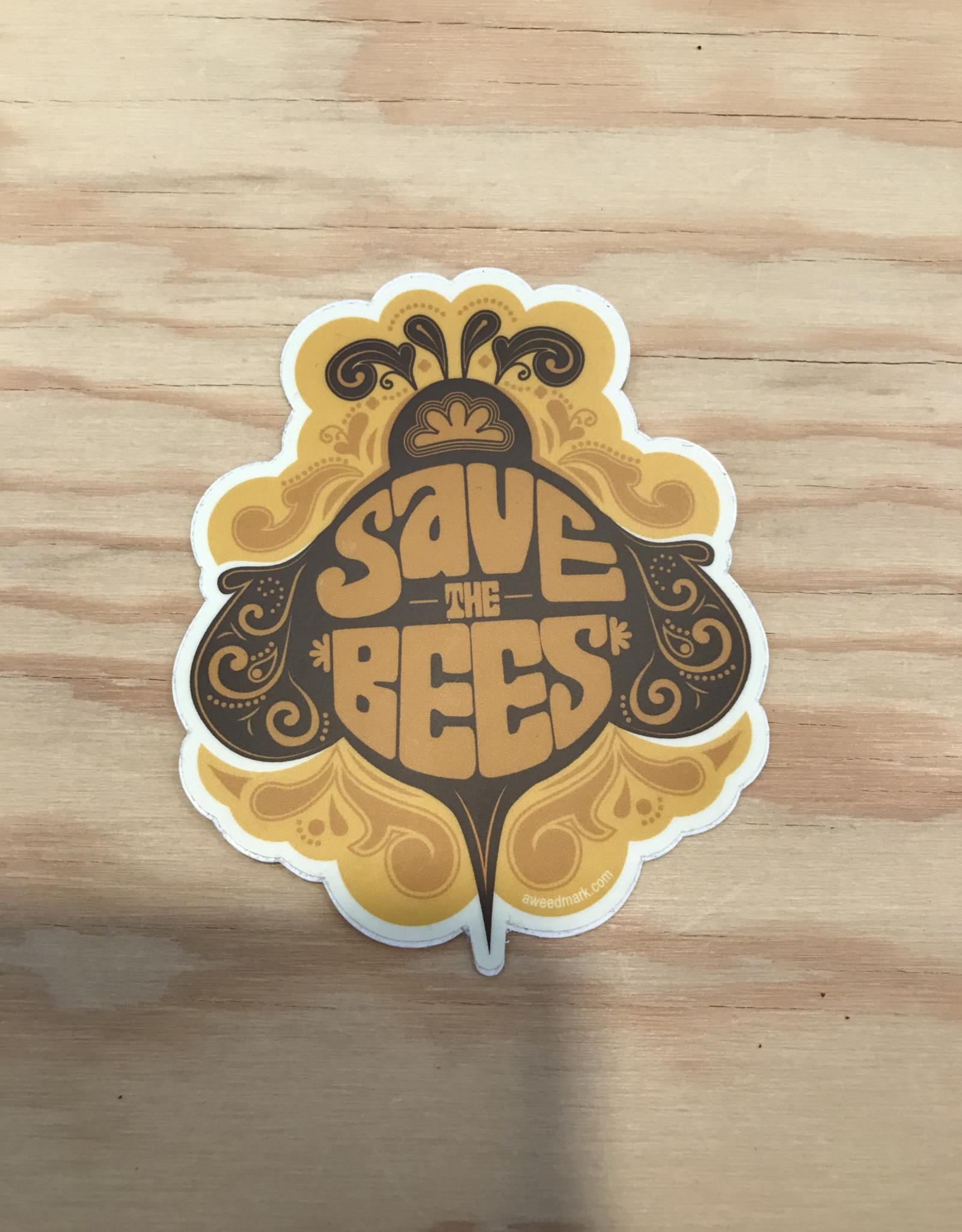 Amanda Weedmark Sticker- Save The Bees