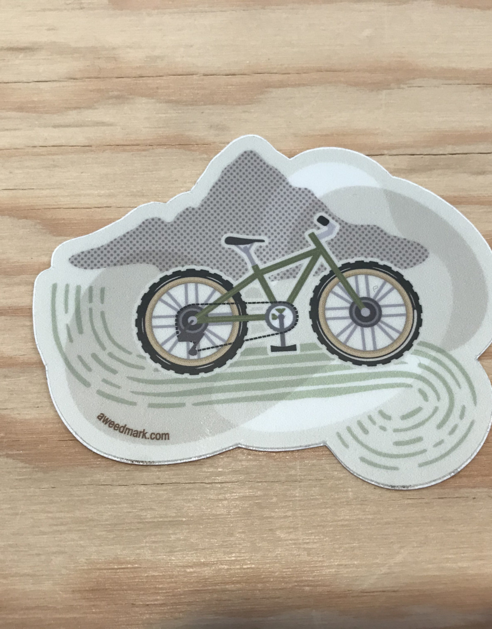Amanda Weedmark Sticker- Mountain High Bike