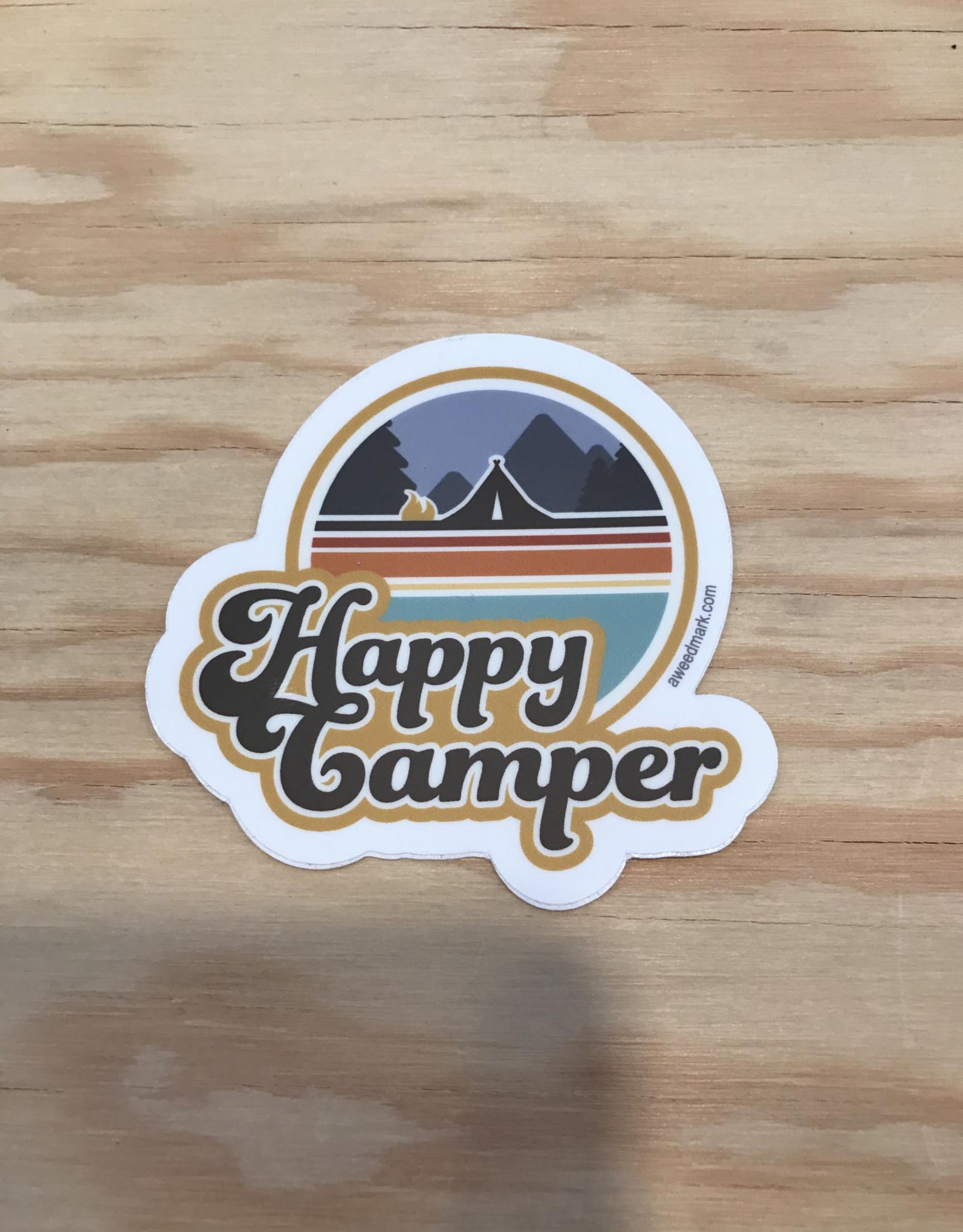 Amanda Weedmark Sticker- Happy Camper