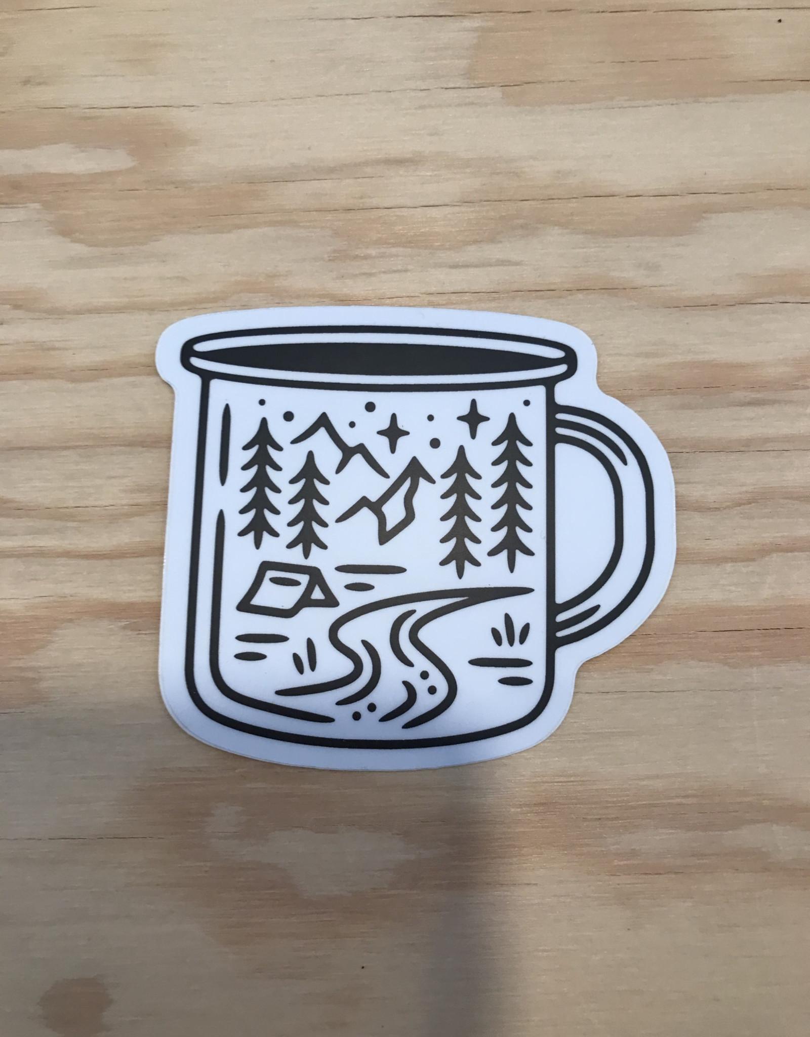 Stickers Northwest Sticker- Camping Mug Scene