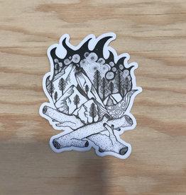 """Wild Slice Sticker- Campfire 3"""""""