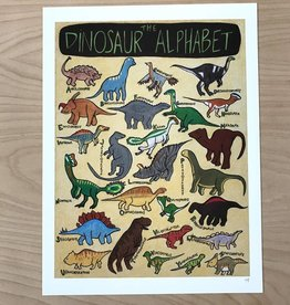 "Print- The Dinosaur Alphabet 9"" x 12"""