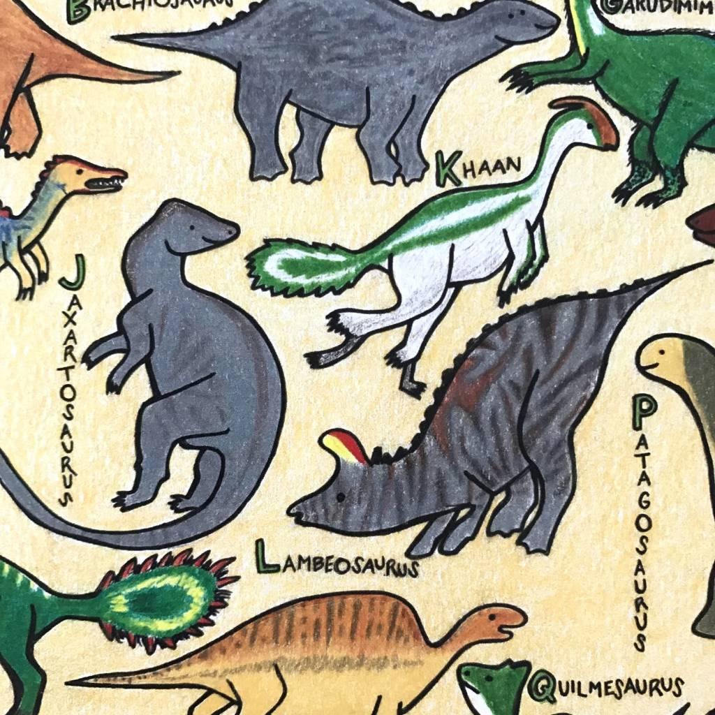"Print- The Dinosaur Alphabet 9"" x 12"""