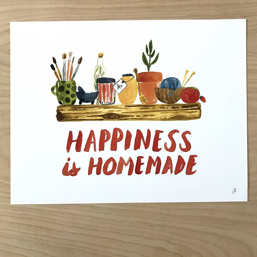little truths print happiness is homemade art 8 1 2 x 11 tart