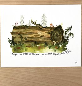 Little Truths Print- Nurse Log Art, 8 1/2 x 11