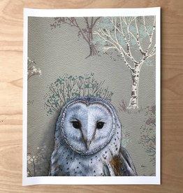 Print- Barn Owl