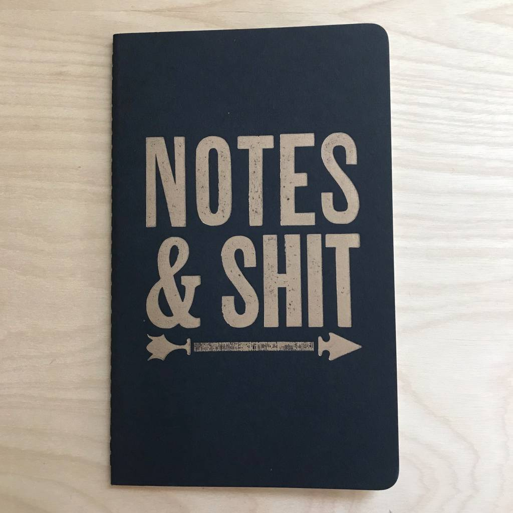 Runaway Press Journal- Moleskin, Notes & Shit, Black