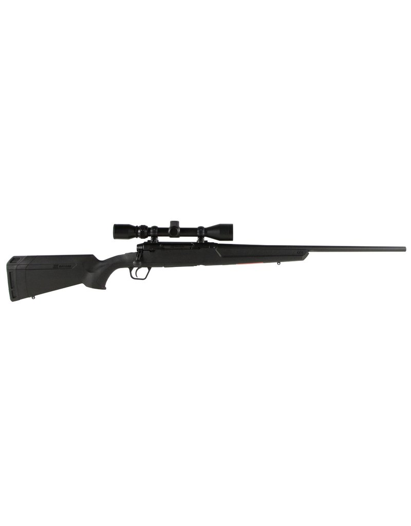 """Savage Axis XP with Scope Bolt 7mm-08 Remington 22"""" 4+1 Synthetic Black Stk Blued"""