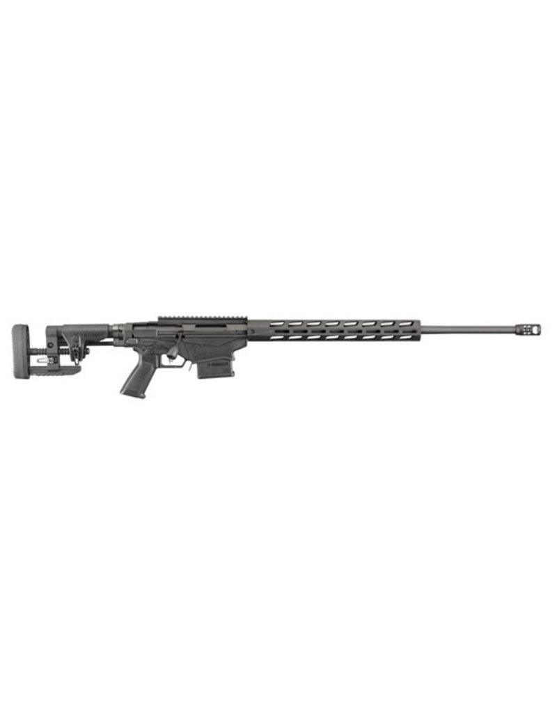 """RUGER Precision Rifle Bolt 6.5 Creedmoor 24"""" 10+1 Precision Adjustable Synthetic Black Stk Black Hard Coat Anodized"""