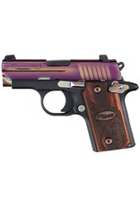 "Sig Sauer Micro-Compact Rainbow *MA Compliant* Single 380 Automatic Colt Pistol (ACP) 2.7"" 6+1 Rosewood Grip Rainbow Titanium PVD Stainless Steel"