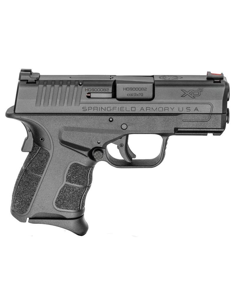 """Springfield XD-S Mod.2 9mm Luger Double 3.3"""" 7+1/9+1 Black Polymer Grip/Frame Black Melonite Slide"""
