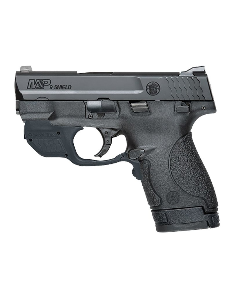 "Smith & Wesson Crimson Trace DA 9mm 3.1"" 7+1/8+1 Black Poly Grip"