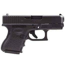"""Glock 9mm 3.46"""" 10+1 Fixed Sights Poly Grip/Frame Black"""