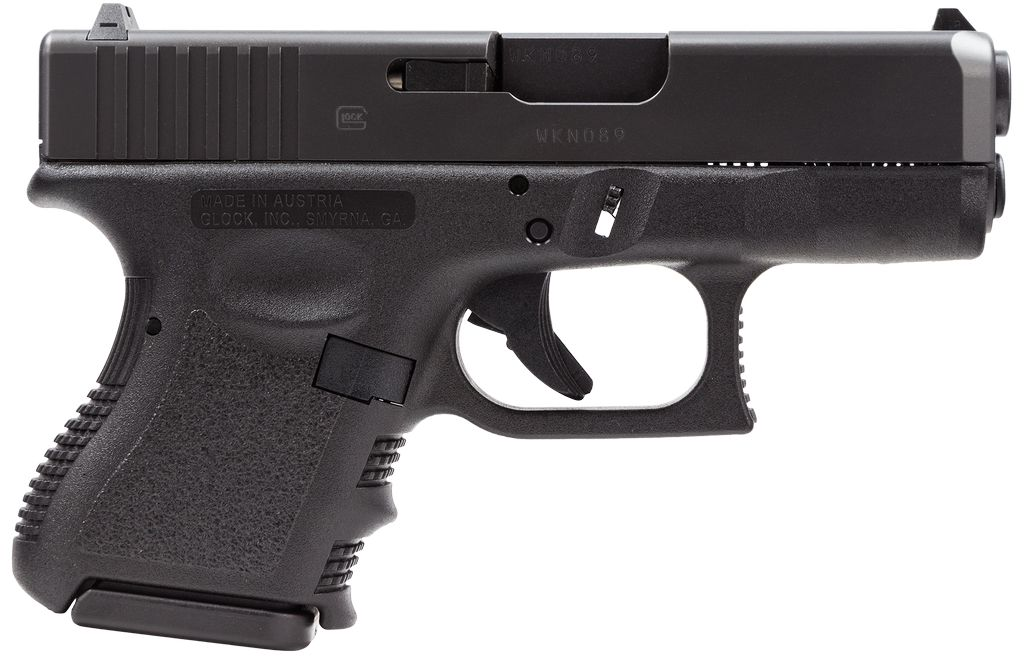 "Glock 9mm 3.46"" 10+1 Fixed Sights Poly Grip/Frame Black"