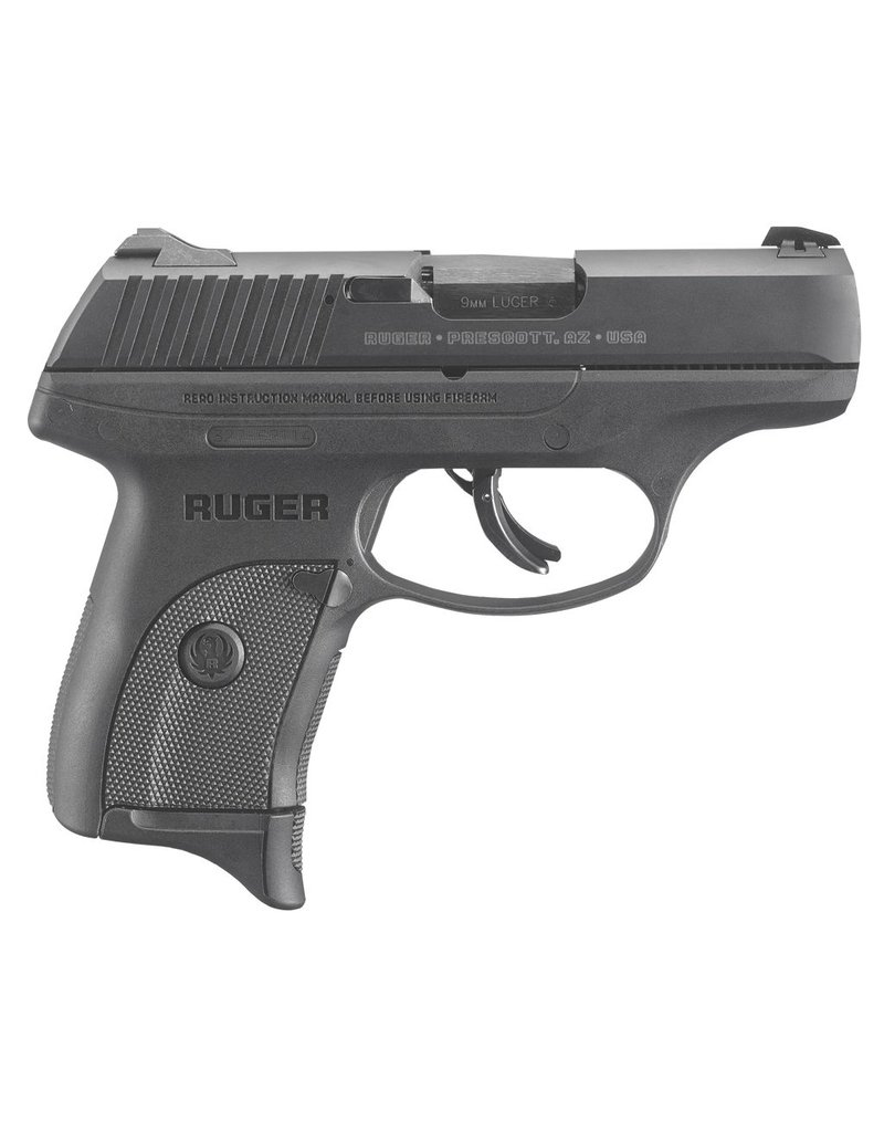 "RUGER 9mm 3.12"" 7+1 NMS Blk Poly Grip/Frame Blued"
