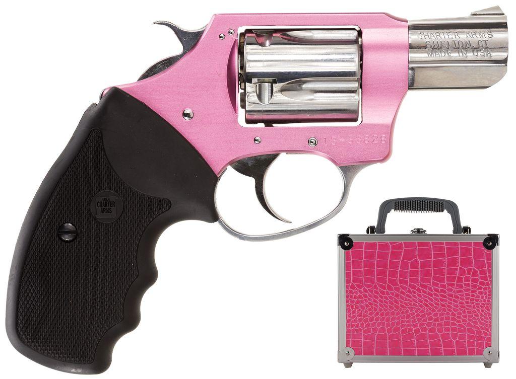 "Charter Arms 38Spl 2"" 5rd Pink Alum/SS w/Pink Case"
