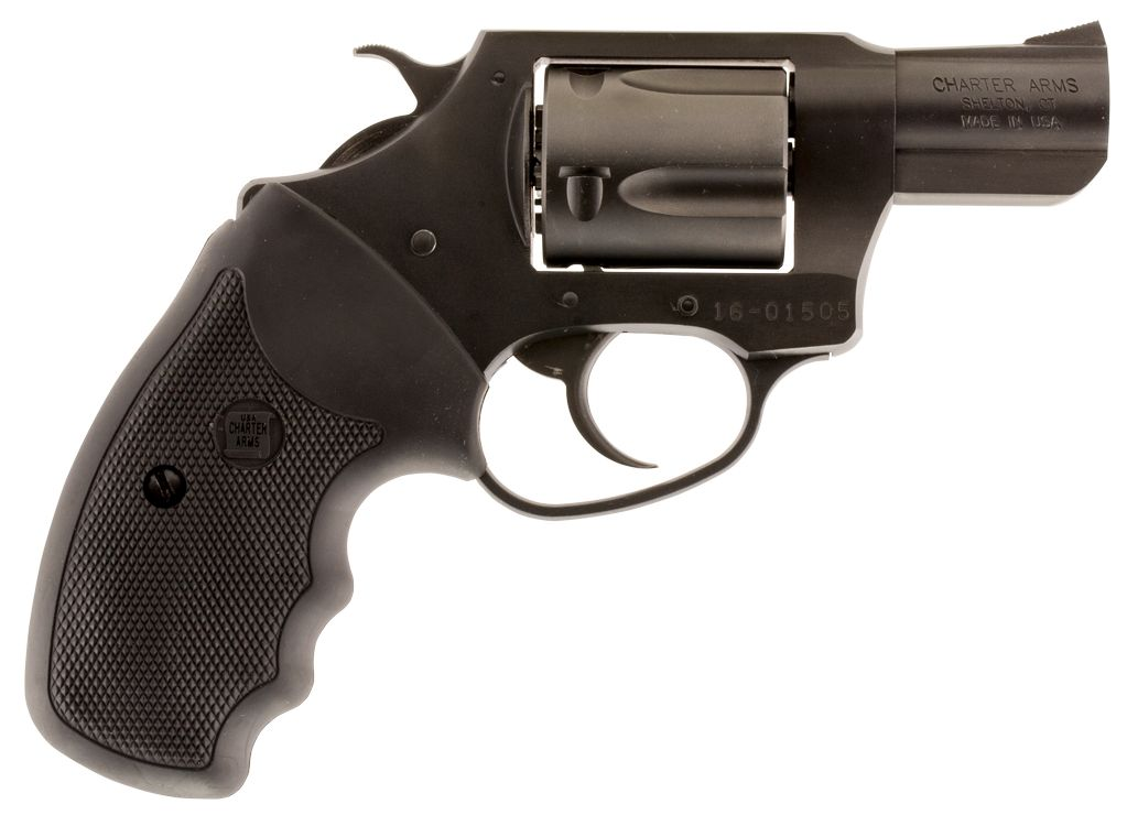 "Charter Arms Lite Single/Double 38 Special 2"" 5 Blk Rubber Nitride"