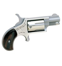 "North American Arms Mini-Revolver 22LR 1.12"" 5rd Rosewood Grip Stainless"