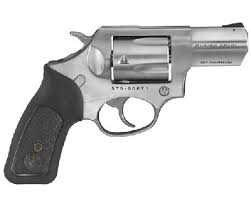 RUGER 357MAG 2-1/4 SS/BLK WD<br /> 5775 RUBBER W/BLK WOOD INSERTS<br /> 357 Magnum   38 Special