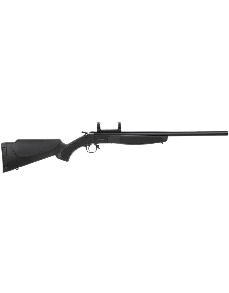 "CVA Hunter Break Open 35 Whelen 22"" w/Scope Mount Black Syn Stock Blued"