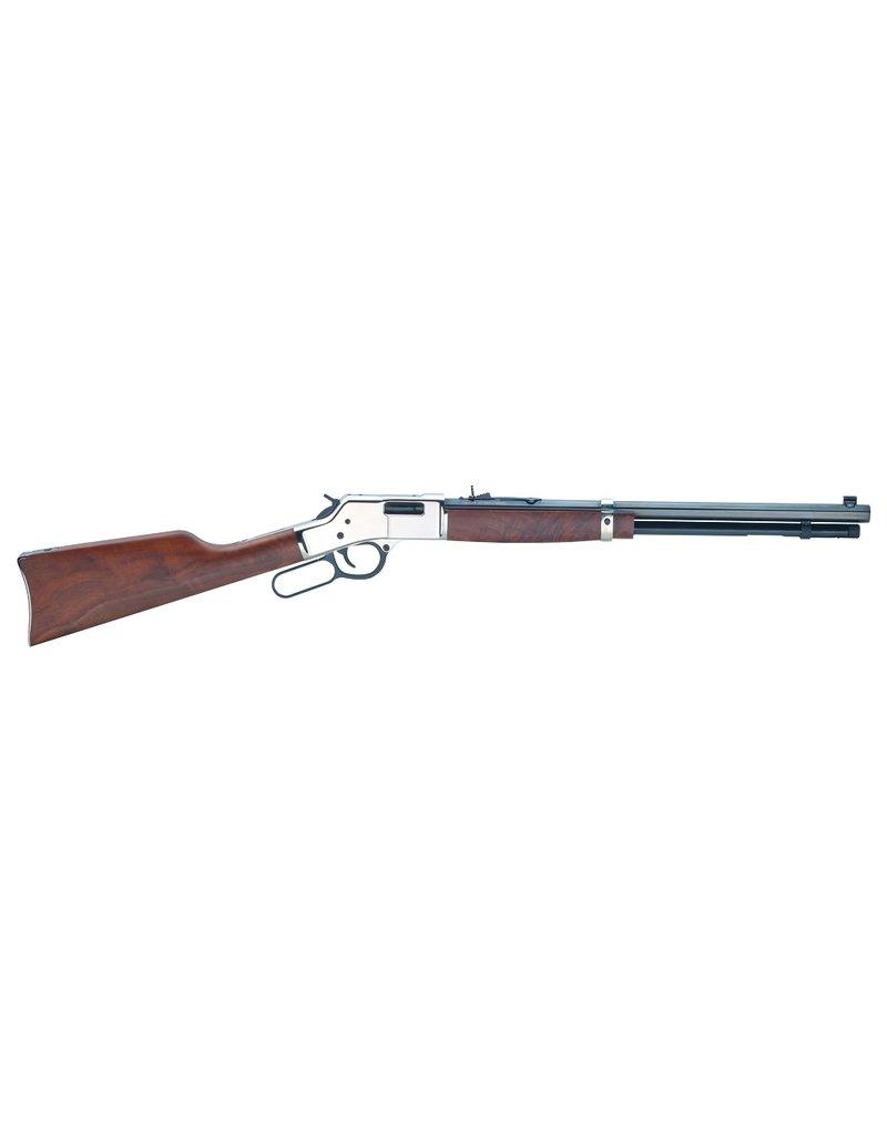 "Henry Henry Big Boy Silver Lever 357 Magnum/38 Special 20"" 10+1 American Walnut Stk Blued Barrel/Silver Receiver"