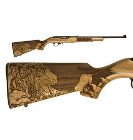 "RUGER 10/22 TIGER 22LR BL/WD 18""<br /> 21146 ENGRAVED TIGER STOCK<br /> 22 LR"