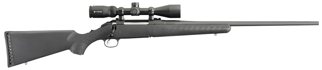 """RUGER American w/Vortex Crossfire II Bolt 308 Winchester/7.62 NATO 22"""" 4+1 Synthetic Stk Black"""