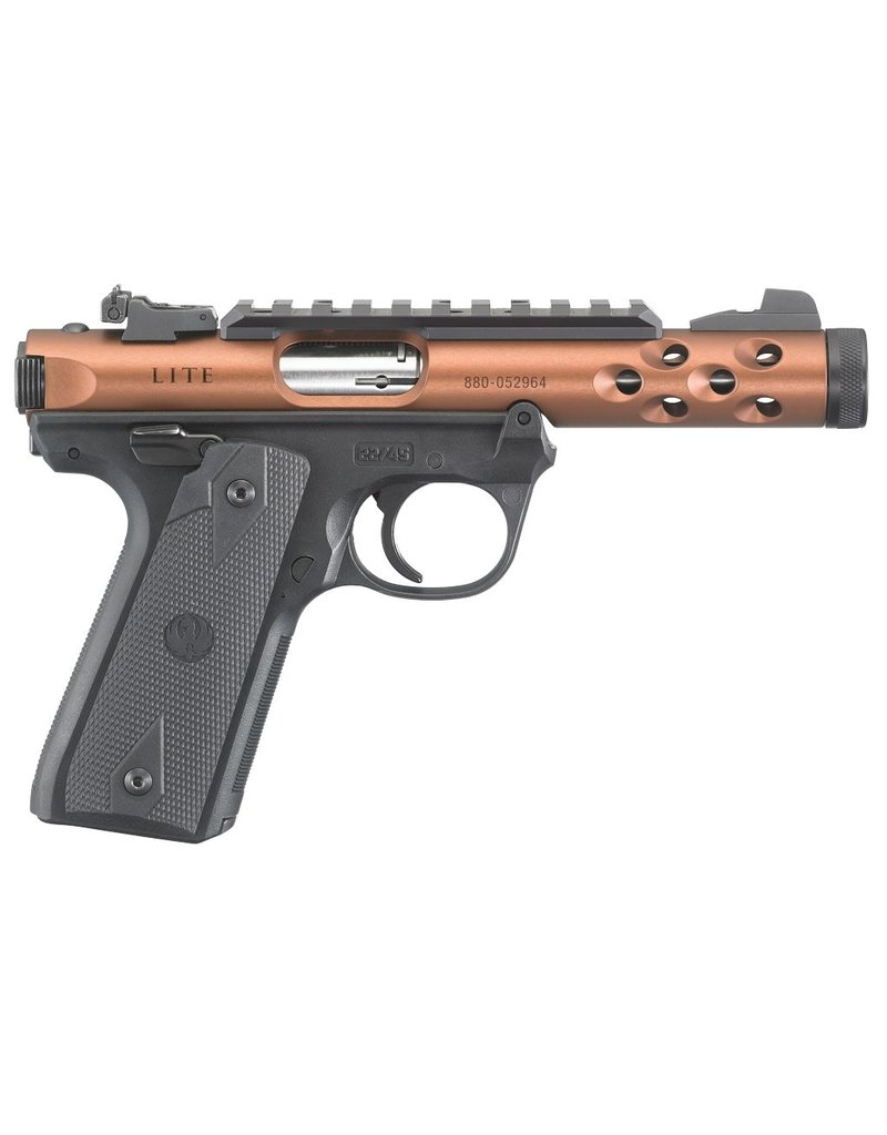 "RUGER Single/Double 22 Long Rifle (LR) 4.4"" 10+1 Black Polymer Grip Bronze Anodized"