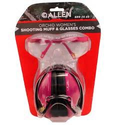 Allen Orchid Woman's Shooting Muff & Glasses Combo