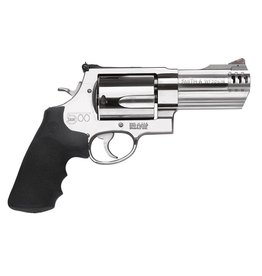 "Smith & Wesson 500 Standard Stainless Single/Double 500 Smith & Wesson 4"" 5 Black Synthetic Stainless"