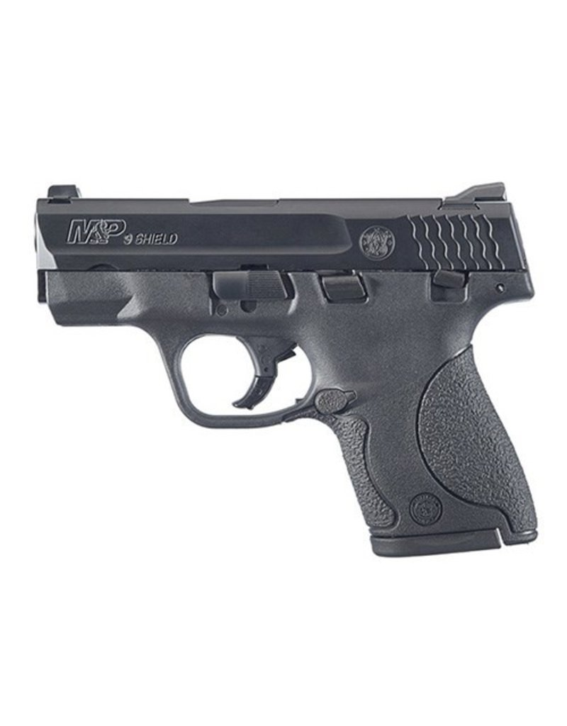 "Smith & Wesson M&P Shield Double 9mm Luger 3.1"" 7+1/8+1 Black Polymer Grip Black Stainless Steel"