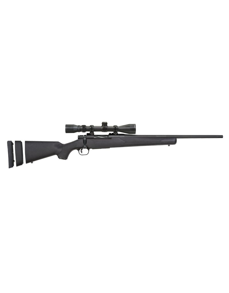 "Mossberg Mossberg Patriot Youth Bolt 243 Win 20"" 4+1 3-9x40 Scope Syn Blk Stk Blued"