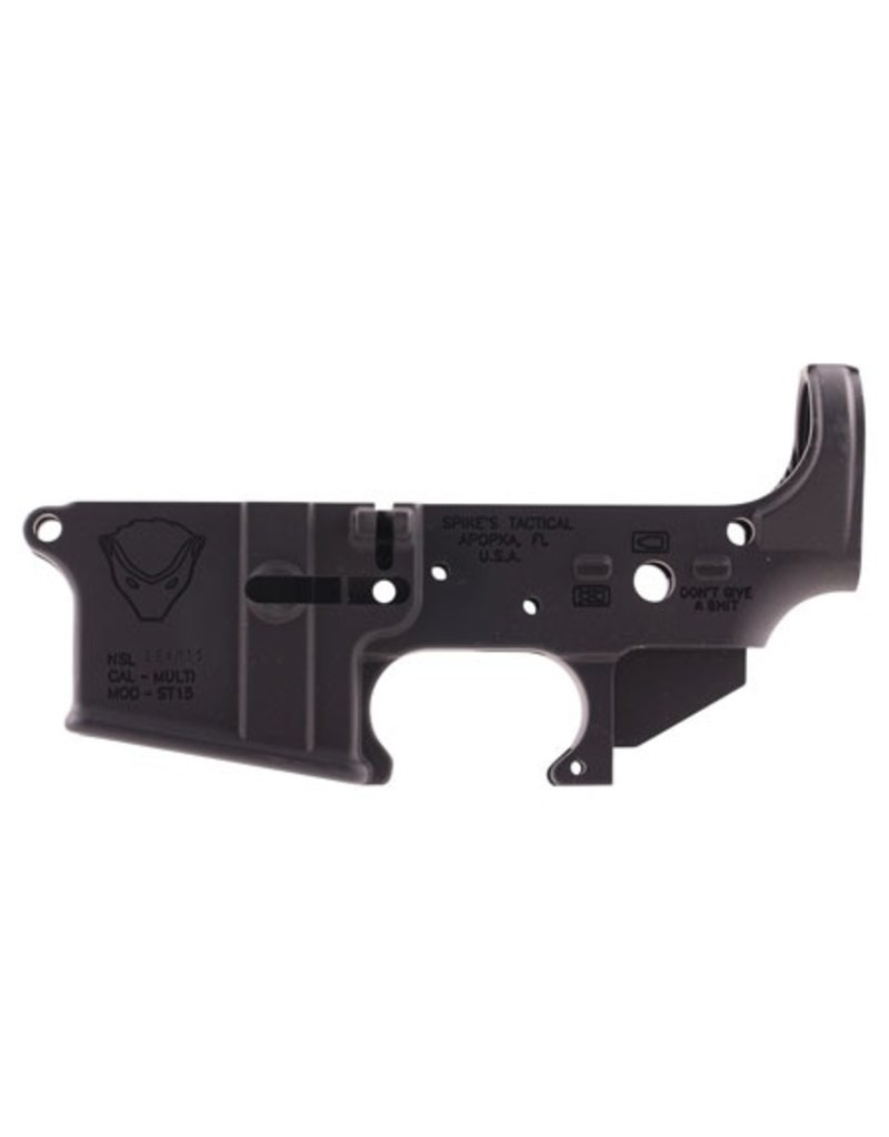 Spikes Tactical Stripped Lower Honey Badger AR-15 Multi-Caliber Black