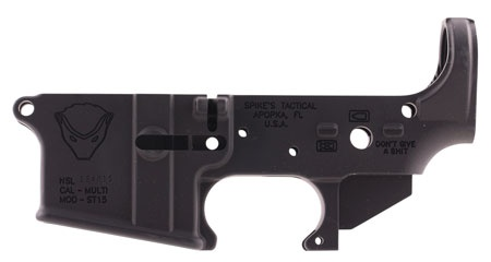 Spikes Tactical Stripped Lower Honey Badger AR-15 Multi-Caliber Black