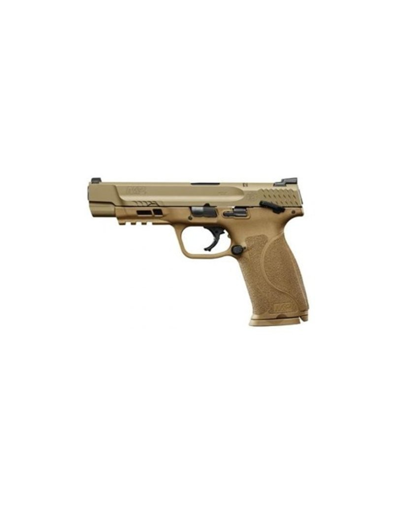 "Smith & Wesson M&P M2.0 Double 9mm 5"" 17+1 Flat Dark Earth Interchangeable Backstrap Grip Stainless Steel"