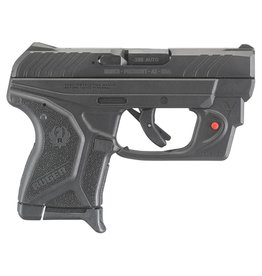 "RUGER LCP II with Viridian Red Laser Single/Double 380 Automatic Colt Pistol (ACP) 2.75"" 6+1 Black Polymer Grip Blued"