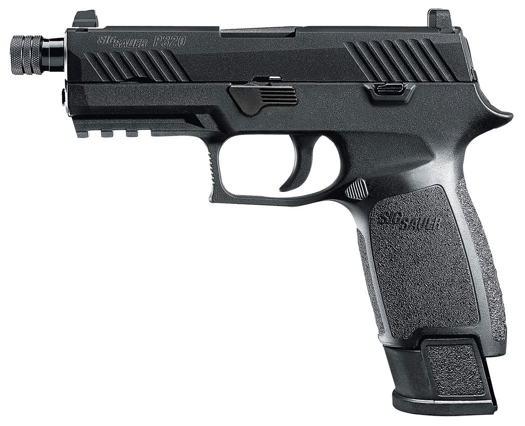 "Sig Sauer Carry TACOPS Double 9mm Luger 4.6"" TB 21+1 Black Polymer Grip/Frame Grip Black Nitron Stainless Steel"