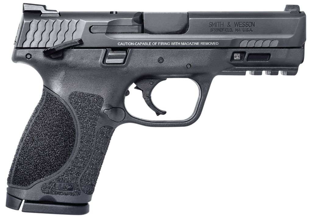 "Smith & Wesson M2.0 Double 9mm Luger 4"" 15+1 Black Interchangeable Backstrap Grip Black Armornite Stainless Steel"