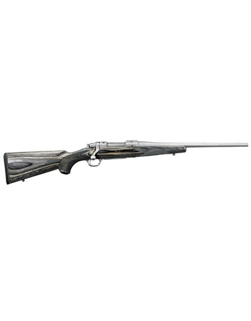 """RUGER Laminate Compact Bolt 308 Win/7.62 NATO 16.5"""" 4+1 Laminate Gray Stk Stainless Steel"""