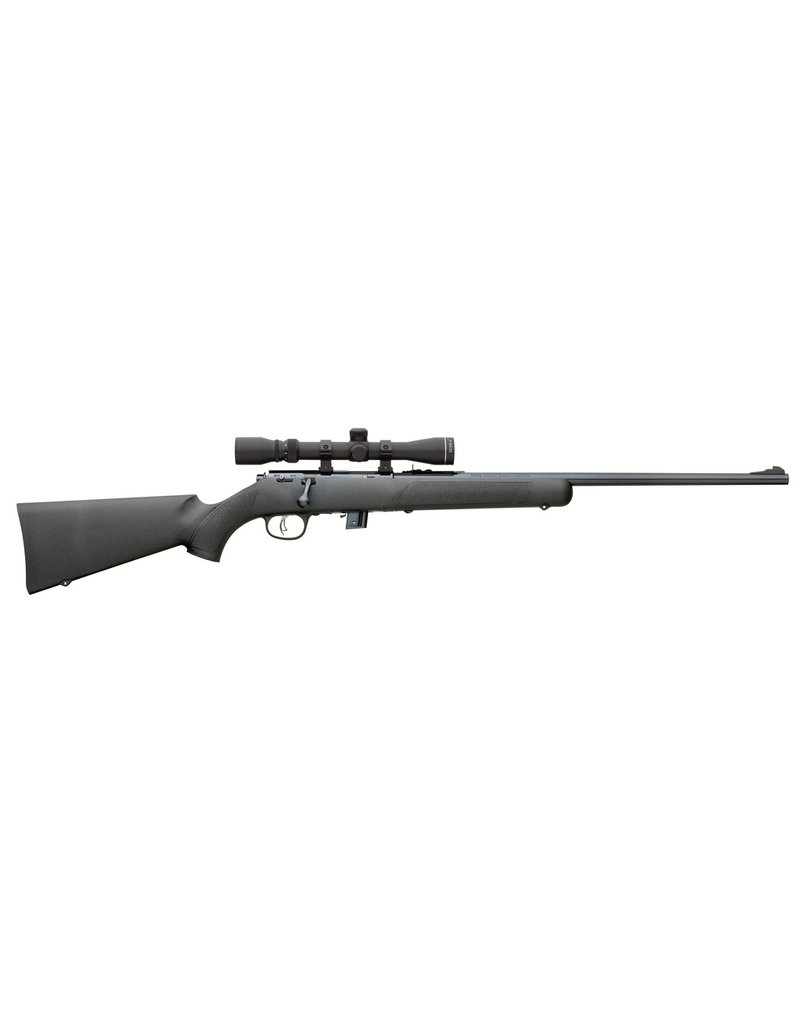 "Marlin Bolt 22 Long Rifle (LR) 22"" 7+1 Synthetic Black Stk Blued"