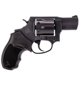 "Taurus M Single/Double 38 Special 2"" 6 rd Black Rubber Grip Black Carbon Steel"