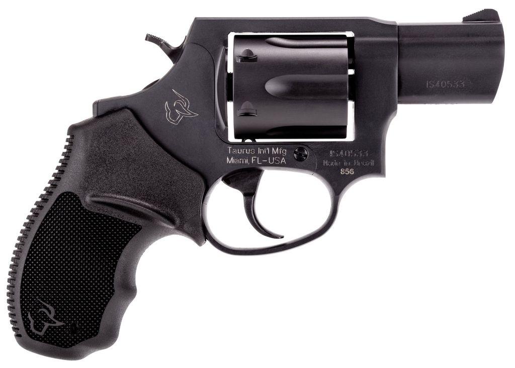 "Taurus M Single/Double 38 Special 2"" 6 rd Black Rubber Grip Black Carbon Steel"