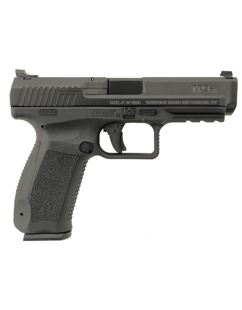 "Cantik Mod.2 Single 9mm Luger 4.46"" 18+1 Black Interchangeable Backstrap Grip Black Cerakote3"