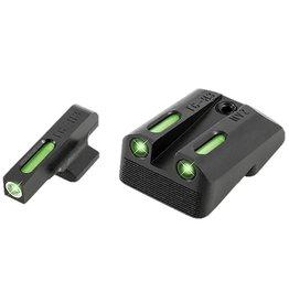 TruGlo Truglo TG13NV4A TFX Day/Night Sights 1911 Pistol Tritium/Fiber Optic Green w/White Outline Front Green Rear Black
