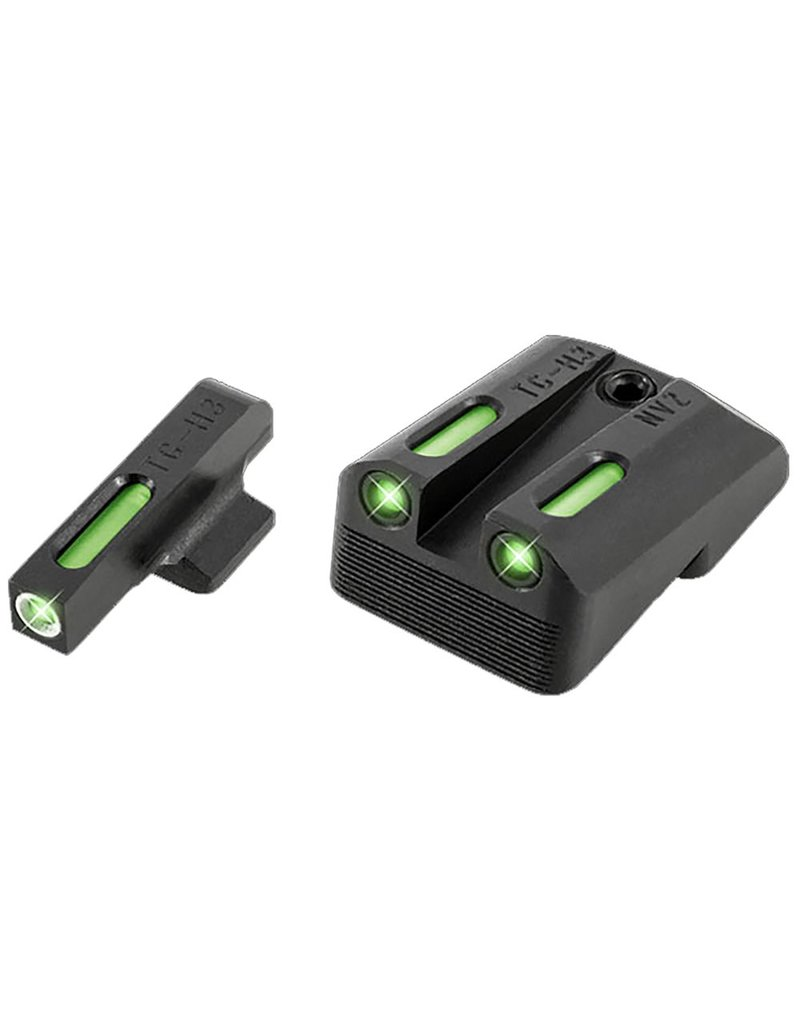 TruGlo Truglo TG13NV4A TFX Day/Night Sights 1911 Pistol Tritium/Fiber Optic Green w/White Outline Front Green Rear Black