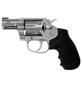 "Colt 38 Spl+P Double 2"" 6 Black Hogue Rubber Grip Stainless Steel"
