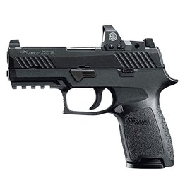 "Sig Sauer Compact RX Double 9mm Luger 3.9"" 15+1 Black Polymer Grip Black Nitron Stainless Steel"