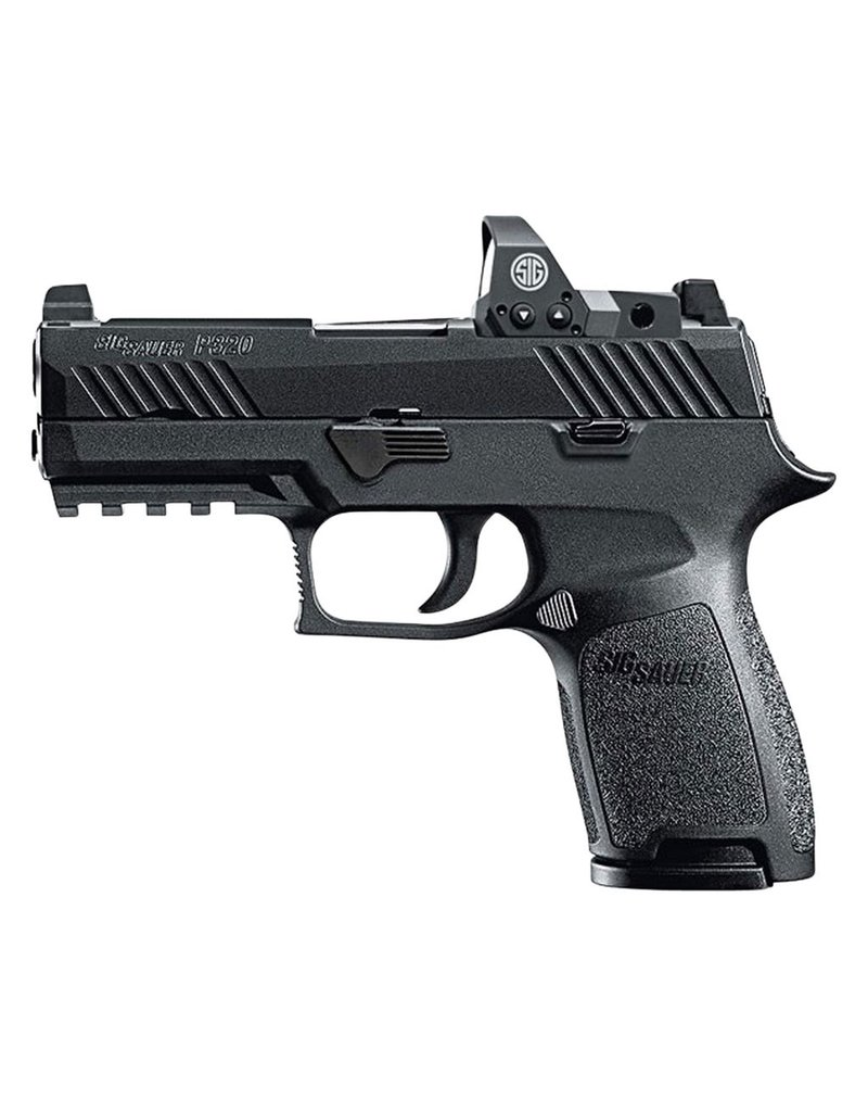 """Sig Sauer Compact RX Double 9mm Luger 3.9"""" 15+1 Black Polymer Grip Black Nitron Stainless Steel"""