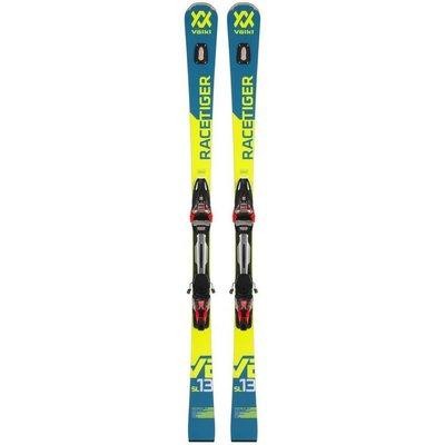 Volkl Racetiger SL Skis W/ Rmotion2 12 GW Black/Red Race Binding 2019